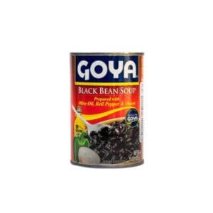 frijoles negros guisados de goya listos para servir